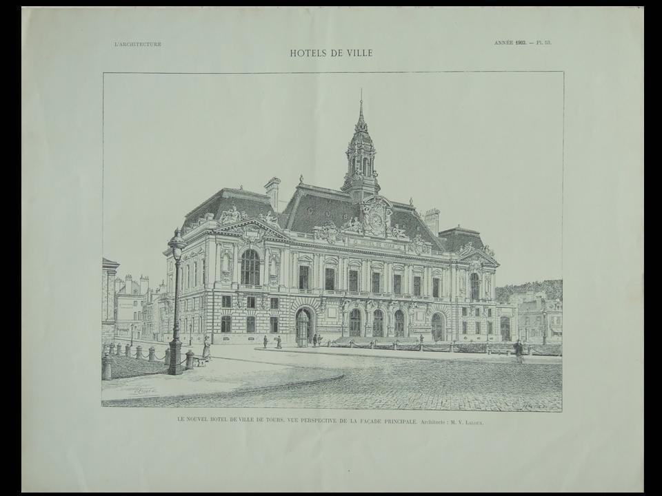 LARCHITECTURE_n°45_1902_TOURS_HOTEL_DE_VILLE_VICTOR_LALOUX___Assez_bon_Couverture_souple