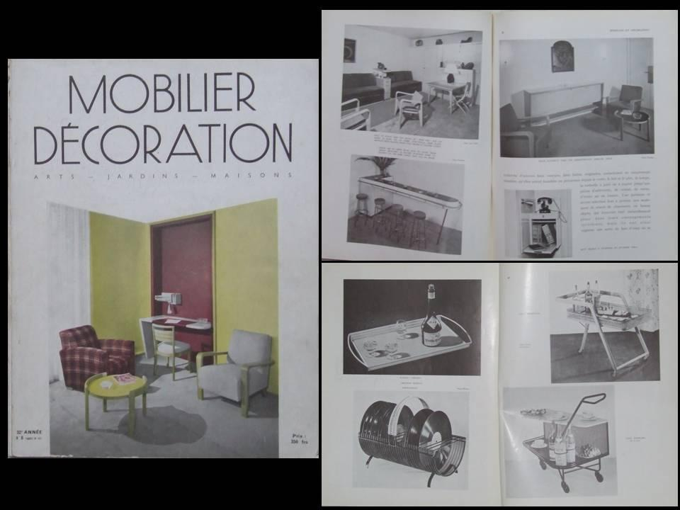 MOBILIER_ET_DECORATION_N°8_1952_RENOU_ET_GENISSET_DEDICACE_MATHIEU_MATEGOT___Bon_Couverture_souple