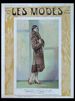 LES MODES n°305 - OCTOBRE 1929 - CHANEL, DRECOLL, PREMET, PARAY, FRENCH FASHION