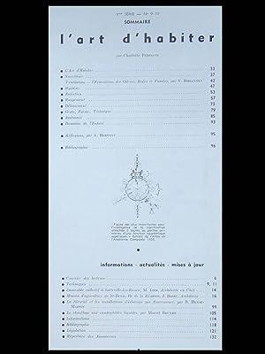 Techniques et architecture - n°9-10 - 1950 - CHARLOTTE PERRIAND, L'ART D'HABITER: PERRIAND,...
