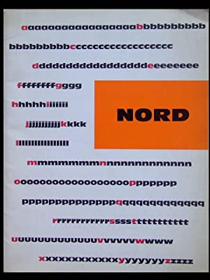 CATALOGUE NORD, FONDERIE OLIVE- 1960 - TYPOGRAPHIE,
