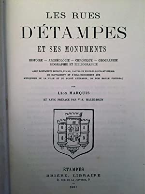 Les rues d'Etampes et ses monuments. Histoire.: MARQUIS Léon.