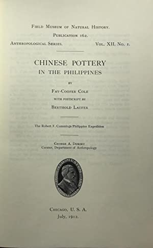 Chinese pottery in the Philippines.[Suivi de ] : The Wild Tribes of Davao Disctrict. Publications...