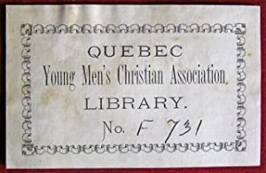 Ex-libris Québec. Quebec Yong Men's Christian Association