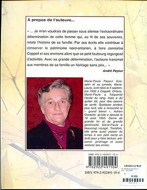 Des défricheurs parmi tant d'autres mes parents: Marie-Paule Payeur Gosselin