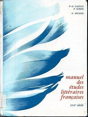 Manuel des études littéraires françaises - XVIIe: P.-G. Castex, P.