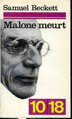 Malone meurt - #508 Collection 10/18: Samuel Beckett