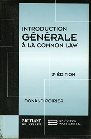 Introduction générale à la Commom Law