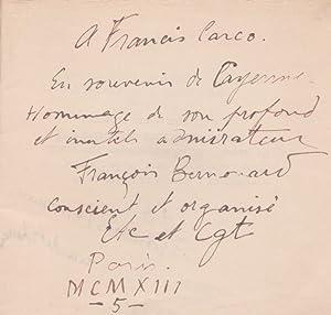 En escripvant ceste parolle: BERNOUARD François - GOUPY Marcel