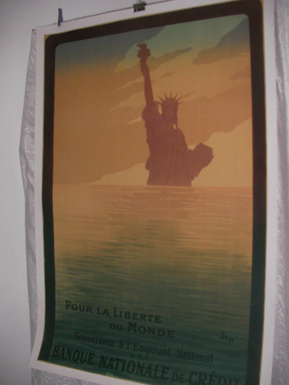 POUR LA LIBERTE DU MONDE SOUSCRIVEZ A L'EMPRUNT NATIONAL A LA BANQUE DE CREDIT: [AFFICHE ...
