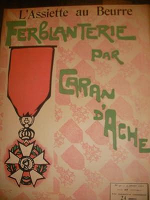 FERBLANTERIE PAR CARAN D'ACHE (N°40-4 JANVIER 1902): L'ASSIETTE AU BEURRE