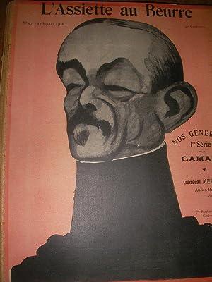 NOS GENERAUX 1°SERIE PAR CAMARA (N°67-12 JUILLET 1902).: L'ASSIETTE AU BEURRE