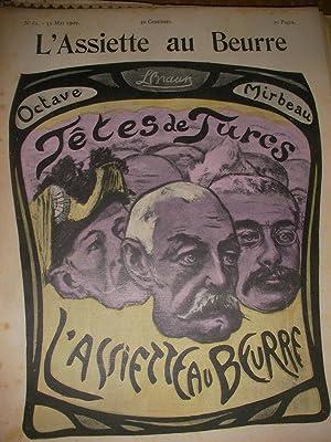 TETES DE TURCS PAR LEOPOLD BRAUN (N°61-31 MAI 1902): L'ASSIETTE AU BEURRE
