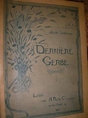 DERNIERE GERBE: SARRAZIN JEAN