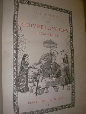 LES CUIVRES ANCIENS AU CACHEMIRE ET AU PETIT-THIBET: DE UJFALVY CH.-E.