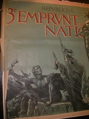 3°EMPRUNT DE LA DEFENSE NATIONALE: AFFICHE ORIGINALE EMPRUNT GUERRE 1914-1918] LELONG R.