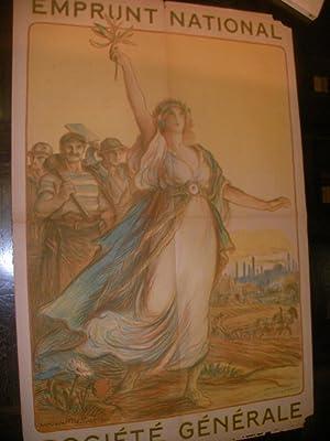 EMPRUNT NATIONAL SOCIETE GENERALE: AFFICHE ORIGINALE GUERRE 1914-1918] METIVET LUCIEN