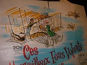 CES MERVEILLEUX FOUS VOLANTS DANS LEURS DROLES DE MACHINES: AFFICHE ORIGINALE CINEMA]