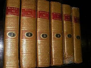 OEUVRES DE J.B.POQUELIN DE MOLIERE (6 TOMES): MOLIERE