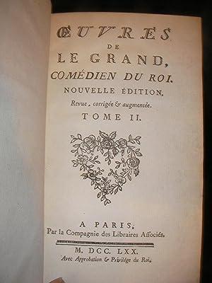 OEUVRES DE LEGRAND COMEDIEN DU ROI (TOME 2 SEUL): LEGRAND
