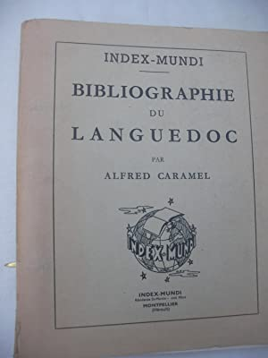 BIBLIOGRAPHIE DU LANGUEDOC: CARAMEL ALFRED