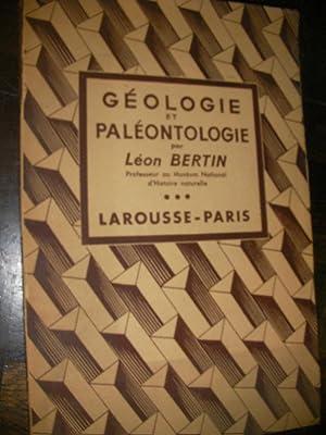 GEOLOGIE ET PALEONTOLOGIE: BERTIN LEON