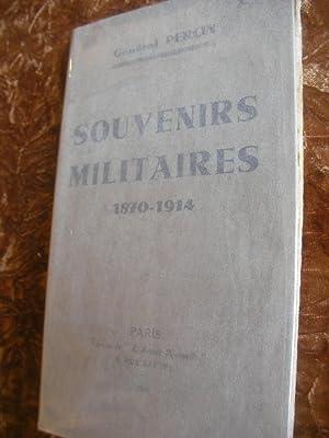 SOUVENIRS MILITAIRES 1870-1914: GENERAL PERCIN