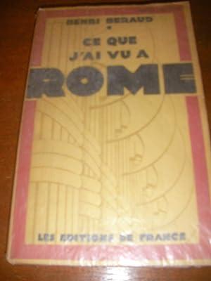 CA QUE J'AI VU A ROME: BERAUD HENRI