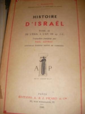 HISTOIRE D'ISRAEL ( TOME 2 SEUL)- DE L'EXIL A L'AN 135 AP-J.C.: RICCIOTTI G.