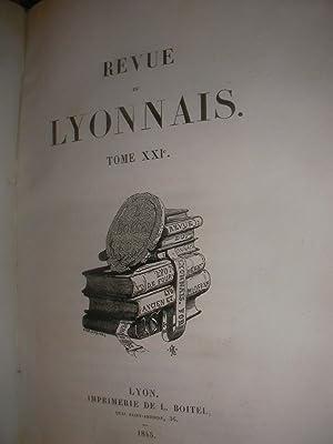 LA REVUE DU LYONNAIS -TOME XXI(1845) TOME XXII(1845)- TOME XXIII(1846): LEON BOITEL]- COLLECTIF