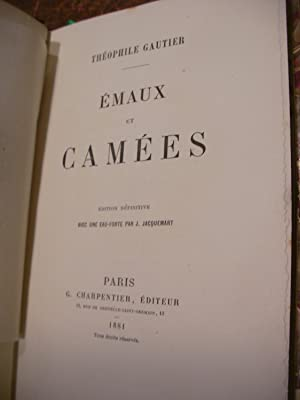 EMAUX ET CAMEES: GAUTIER THEOPHILE