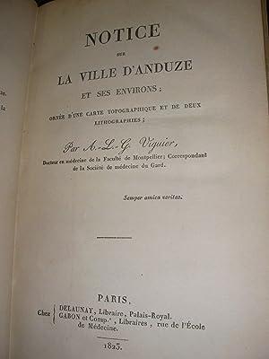 NOTICE SUR LA VILLE D'ANDUZE ET SES ENVIRONS: VIGUIER A.-L.-G.