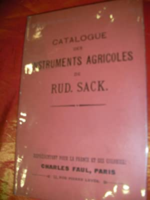 CATALOGUE DES INSTRUMENTS ET MACHINES AGRICOLES POUR: RUD.SACK.