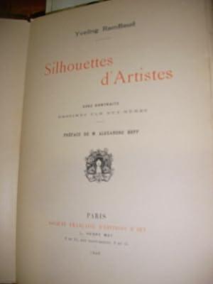 SILHOUETTES D'ARTISTES AVEC PORTRAITS DESSINES PAR EUX-MEMES: YVELING RAMBAUD