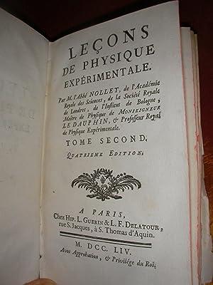 LECONS DE PHYSIQUE EXPERIMENTALE (TOME 2 SEUL): ABBE NOLLET