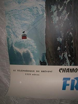 CHAMONIX MONT-BLANC - LE TELEPHERIQUE DU BREVENT (2525m): (AFFICHE ORIGINALE] TAIRRAZ