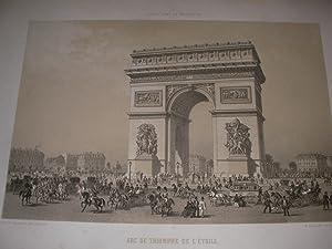 ARC DE TRIOMPHE DE L'ETOILE- FACADE DU: LITHOGRAPHIOE] BENOIST PH.-