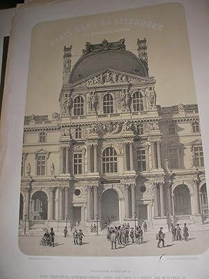 PAVILLON DU LOUVRE- PLACE NAPOLEON III: LITHOGRAPHIE] BENOIST PH-