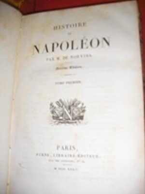 HISTOIRE DE NAPOLEON (TOME 1): DE NORVINS