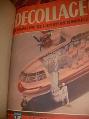 DECOLLAGE- LE MAGAZINE DE L'AVIATION MONDIALE - DU N°53 (3 AVRIL 1947 AU N° 65(26 JUIN...
