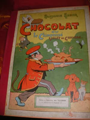 benjamin rabier - chocolat ou le chimpanze valet de chambre ...