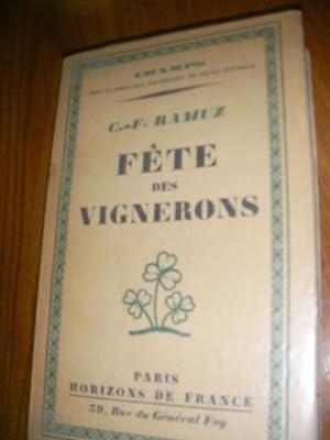 FETE DES VIGNERONS: RAMUZ C.F.