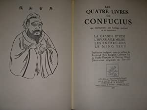 LES QUATRE LIVRE DE CONFUCIUS QUI REPRESENTENT SON HERITAGE PERSONNEL: LA GRANDE ETUDE-L'...
