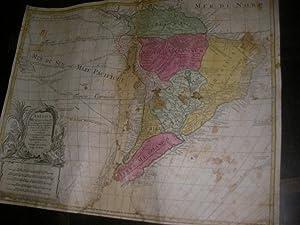 AMERICA MERIDIONALIS: CARTE GEOGRAPHIQUE ANCIENNE-