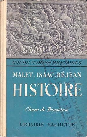 Cours d'histoire Malet-Isaac. L'époque contemporaine. Classes de: MALET A. -