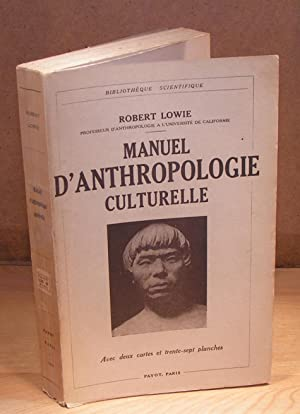 MANUEL D¿ANTHROPOLOGIE CULTURELLE (1936)