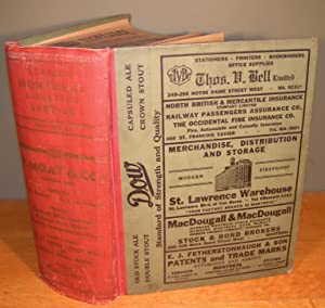 LOVELL'S MONTREAL DIRECTORY FOR 1937-1938 : Containing: N/A