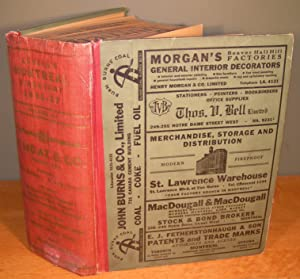 LOVELL¿S MONTREAL DIRECTORY 1936-1937, 94th volume, (Original): N/A
