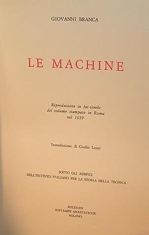Le Machine (fac-simile de gravures du 17e siècle): BRANCA, Giovanni