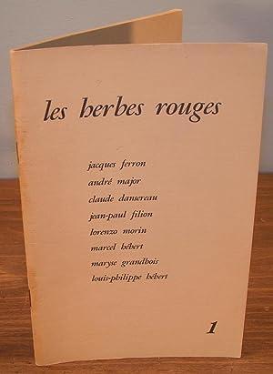 LES HERBES ROUGES (no. 1, 1968): FERRON, Jacques, MAJOR,